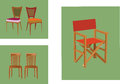 Folding chair wooden chairs built by hand and re sealable Royalty Free Stock Photos