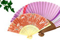 Folding fan. Stock Images