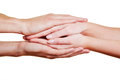 Folding hands for condolence Royalty Free Stock Photography