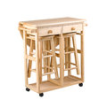 Folding and movable table Royalty Free Stock Image