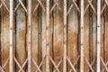 Folding shutter steel door