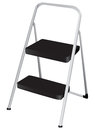 Folding step stool ladder with two stages can be used as a chair vector illustration Stock Photography