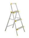Folding stepladder with clipping path isolated on white background Stock Photography