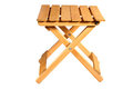 Folding wooden chair Stock Photo