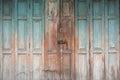 Folding wooden door