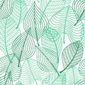 Foliage green leaves seamless pattern summer or spring tree suitable for wallpaper tiles and fabric design Stock Image