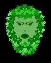 Foliate greenman Royalty Free Stock Photography