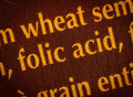Folic acid Royalty Free Stock Photo