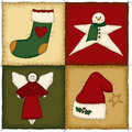 Folk Art Christmas Quilt Stock Images
