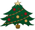 Folk Art Christmas Tree Stock Photos