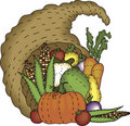 Folk Art Cornucopia Stock Image