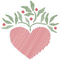Folk Art Style Embroidered Heart Royalty Free Stock Photography