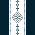 Folk border navy blue polish design Stock Photos
