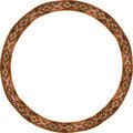 Folk circle frame Royalty Free Stock Photos