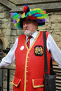 Folk dancer in feather hat at Rochester Sweep Festival Stock Photography