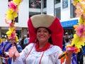 Folk dancer from Otavalo, Ecuador