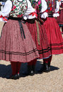 Folk dancers in beautiful dress at state fair of texas usa Royalty Free Stock Photography