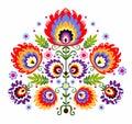Folk Embroidery Flowers