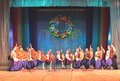 Folk ensemble bandurist performance on the stage of the palace of children and youth kiev ukraine Royalty Free Stock Images