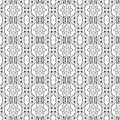 Folk hearts and flower seamless pattern Stock Images