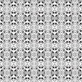Folk hearts and flower seamless pattern Royalty Free Stock Photo