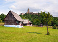 Folk houses and castle in Stara Lubovna