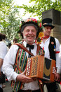 Folk musician with accordianat Rochester Sweep Festival Royalty Free Stock Photo