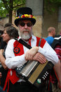 Folk musician at Rochester Sweep Festival Royalty Free Stock Photo