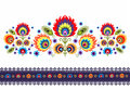 Folk Pattern With Flowers Royalty Free Stock Photo