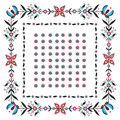 Folk pattern labels polish design Royalty Free Stock Photos