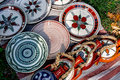 Folk pottery romanian traditional ceramic painted with specific reasons from corund area transylvania Stock Photography