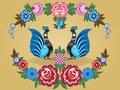 Folklore pattern gorodets painting russia the image can be used in the design of books websites advertising Stock Photography