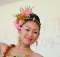 Folkloric dancer from thailand unidentified performs during essence of vii celebration activities on september in brussels Stock Image