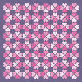 Folkloric hearts pattern. Vector. Stock Photo