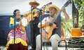 Folkloric musical chilean group paine chile nov unidentified during traditional festival in the countryside Stock Photos