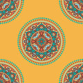 Folkloric textile design vector seamless traditional ethnic pattern colorful Stock Images