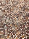 Follow the brown Brick Road Background Royalty Free Stock Photo