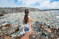 Follow me version at garbage dump maldives Royalty Free Stock Photos