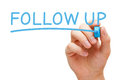 Follow Up Blue Marker Royalty Free Stock Photo