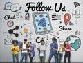 Follow us Follower Join us Social Media Concept Royalty Free Stock Photo