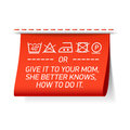Follow washing instructions or give it to your Mom, she better knows how to do it Royalty Free Stock Photo