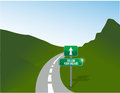 Follow your dreams road illustration