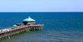 Folly Beach- Pier in SC Royalty Free Stock Photo
