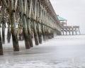 Folly Beach pier in South Carolina Royalty Free Stock Photo