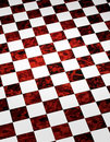 Fond Checkered de marbre rouge Photos stock