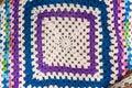 Fond d image de couverture de laine de crochet Images libres de droits