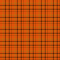 Fond orange et noir de tissu de plaid Photos libres de droits
