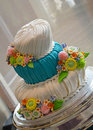 Fondant wedding cake Royalty Free Stock Photography