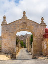 Fondazione paola arch built in situated in kuncizzjoni in malta Royalty Free Stock Photo