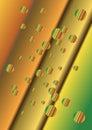 Fondo abstracto con las burbujas y las líneas del color Fotografía de archivo